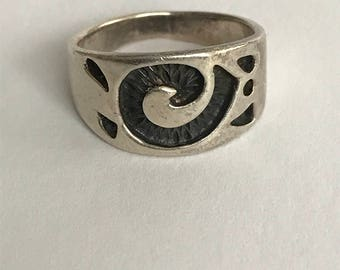 Hopi Sterling Bear Paw Ring Sz 6.25 Claw Band Silver 925 Vintage Southwestern Native Jewelry  Birthday Mother's Anniversary Gift Promise