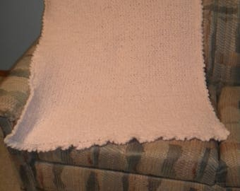 Crocheted Pink Baby Afghan