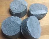 FACE WASH BAR Activated Charcoal Salt Soap Plant Based Zero Palm Oil Fresh Scented Soap