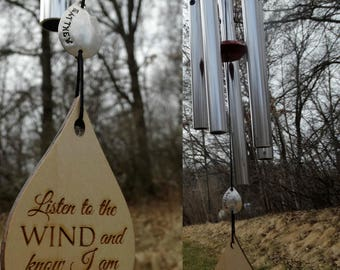 Wind Chime Complete Customization 22 inch Listen to the Wind Memorial Wind Chime Sweetheart Grieving Gift WindChime Custom in memory of