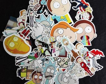 35 Pack of Rick and Morty Stickers!