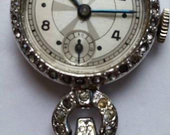 Gotham Pendant Gemstones Mechanical Wind Up Watch Pin