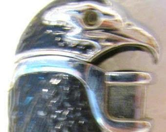 Vintage Eagle Butane Lighter Cigars Cigarettes Lift Head and Eyes light up Blue Unusual