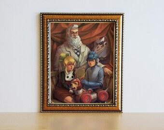 Megaman Family Portrait Print