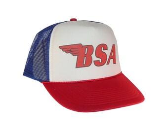 BSA Motorcycles hat Trucker hat mesh hat new adjustable