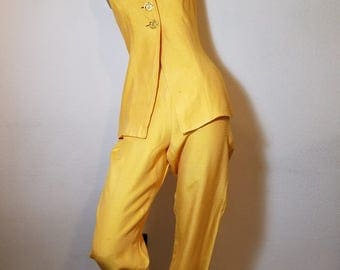 FREE  SHIPPING  1980 Designer Pants Outfit Set