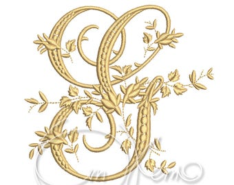 MACHINE EMBROIDERY DESIGN - Victorian Letter G embroidery, Victorian alphabet embroidery, Antique alphabet embroidery, Monogram embroidery