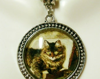 The wise cat pendant with chain - CAP26-061