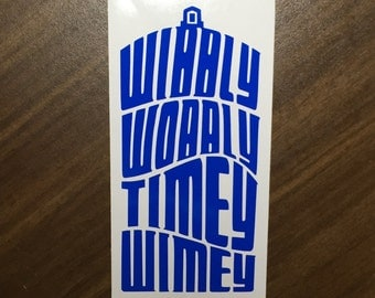 Wibbly Wobbly Doctor Who decal