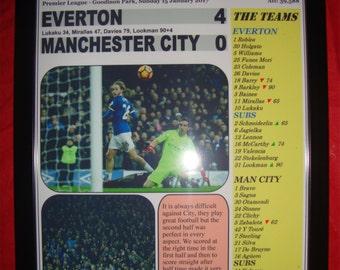 Everton 4 Manchester City 0 - 2017 - souvenir print