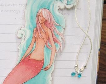 Salmon Mermaid Bookmark. Free shipping