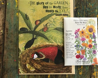 406* Garden Glory CARD 5x7 with seed packet