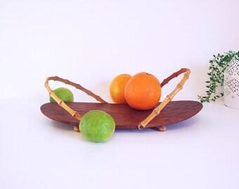 Modern Danish Teakwood Tray // Vintage teakwood tray // modern 60s tray Denmark