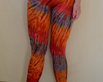 Beautiful, soft tie-dye cotton/spandex yoga pants- M