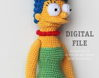 Cartoon Crochet Pattern | Amigurumi Pattern Doll | Crochet Action Figure Pattern | Crochet Stuffed Toy Pattern | Geeky Crochet Pattern