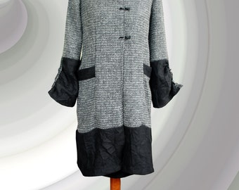 Coat in gray-black Luxemburgo. UK 16/20, US 14/18