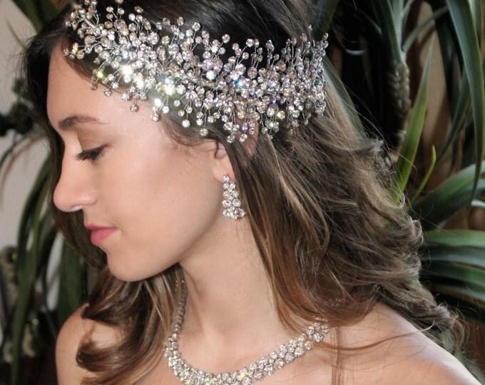 Crystal hair clip wedding