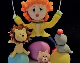 Circus Cake Topper, Carnival Theme Party, Circus Birthday Cake Topper, Circus Decoration, Circus Party, Carnival Theme Party, Circus Clown