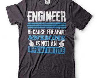 Engineer Job Tittle T-Shirt Funny Occupation Tee Shirt Engineering Shirt