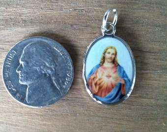 Sacred Heart of Jesus Holy Medal Reversible