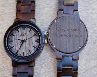 Mens Wood Watch, Wooden Watch, Wooden Watch for Men, Gift for Him, Wood Watch, Personalized Wood Watch, Wedding Gift, Wood Watch for Men