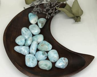 Tumbled Larimar - Stone for Deep Peace and Tranquility