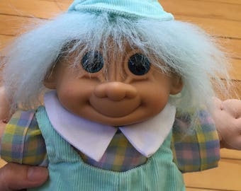 Vintage 1980s Soft Treasure Trolls Baby Doll Toy!