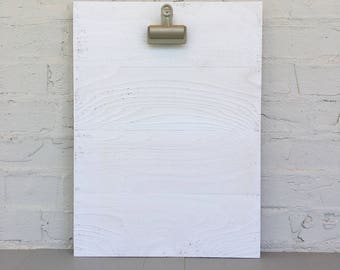 "16"" x 19.5"" Large Clipboard Art Photo Frame / Kids Art Holder in Distressed White"