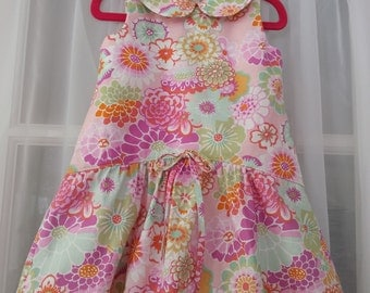 Summer dress with camel hump flounce Size 2