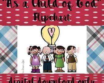 As a Child of God FLIPCHART