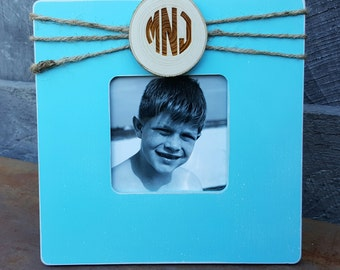 Personalized Picture Frame - Monogram Frame - Custom Photo Frame - Shabby Chic Frame - Rustic Picture Frame