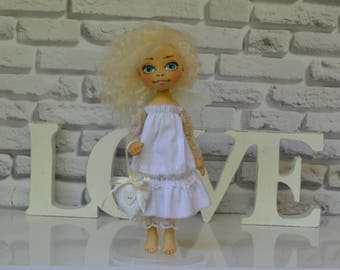 Angel. OOAK. Ready to ship. Handmade doll. Art doll
