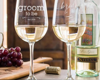 engraved wine glasses, weddings, His and Hers, 50th wedding anniversary, gifts for the couple, gifts for wife, 5 year anniversary gift