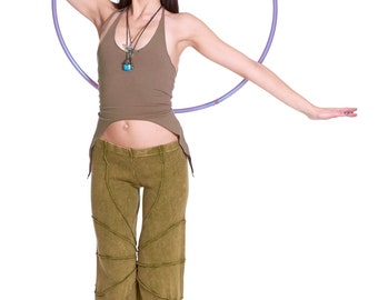 ORGANIC YOGA TOP, backless organic cotton top, psy trance clothing, bush doof clothing, flow arts hoop clothing, pixie top, festival clothes