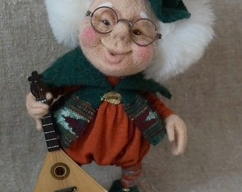 "Felted doll ""Gnome Michael""."