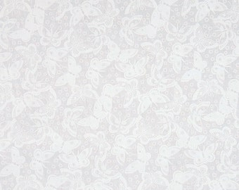 Butterflies White on White; Hue C6565; Fat Quarter, Third Yard, Half Yard, or By The Yard; Timeless Treasures; White