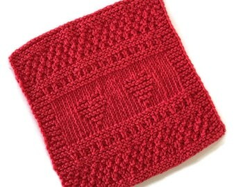 Dish Cloth,  Red Hearts Wash Cloth,Only Available at AllSylviasCreations, Gift, Eco Friendly,Cotton Kitchen Cloth, Gift for Him or Her