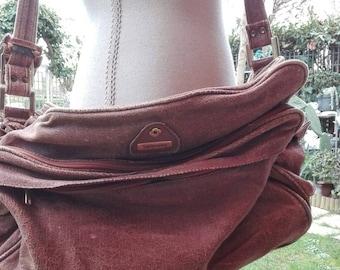 Bag Samsonite travel bag shoulder bag Brown crust MMF fabric VINTAGE chic