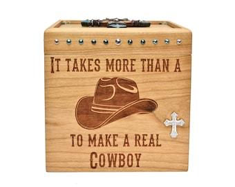 Engraved Keepsake Box - Cherry - Keepsake Box - Cowboy
