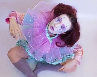 Pastel Clown Full Costume for Halloween and Dress Up