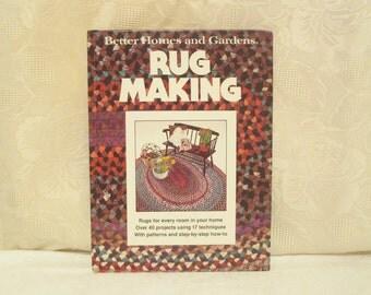Rug Making Book, Better Homes and Gardens Book, Vintage Rug Pattern Book, Shag Rag Rug, Off Loom Weaving, Hook Rugs, 1978 Rug Making Book