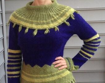 Anny Blatt Original Hand-Knitted Kid Mohair Sweater ~ Ooh La La