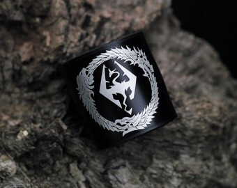 Skyrim - Elder Scrolls  inspired leather bracelet wrist - cuff
