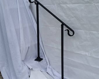 5' Five foot Stair Railing Handrail ornamental crown molding with posts for surface mount situation