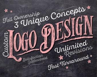 Logo Design, Logo, Logos, Custom Logo Design, Custom logo, Business Logo, Retro Logo, Chalkboard Logo, Logo Design Service, Photography Logo