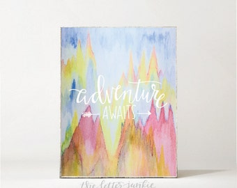 Adventure Awaits Watercolor Art Print