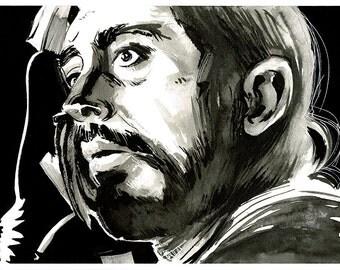 Star Wars - Rogue One - Rebel Pilot Bodhi Rook original ink drawing