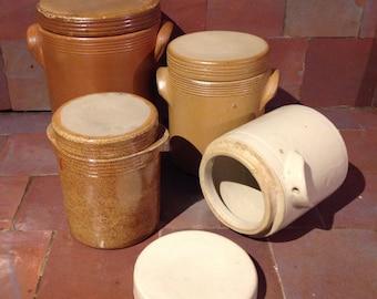 Set of 4 sand stone boxes