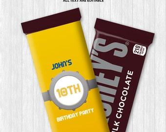 Minions Chocolate Bar Wrapper