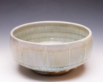 Wood Fired Porcelain Blend Serving Bowl - Nuka Ash Glaze, 0520001
